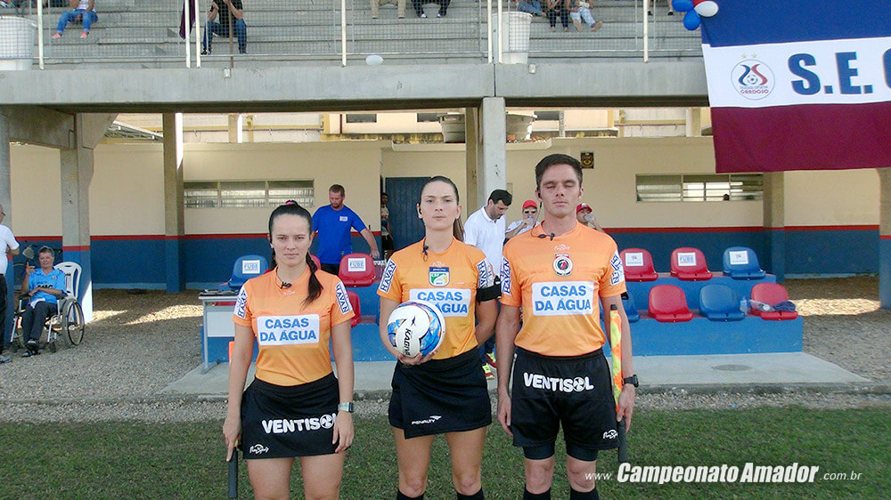 Jennifer Soares, Tainan Bordignon Somensi, João Filipi Netto Foto: www.campeonatoamador.com.br/