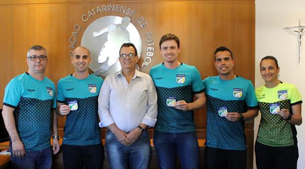 Marco Martins, Fernando Miranda, Rubens Angelotti, Ramon Abel, Gianlucca Perrone e Gizeli Casaril. Foto: FCF