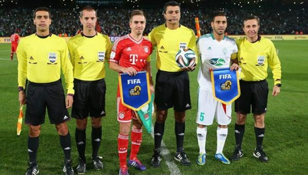 andro Meira Ricci, arbitrou a final do mundial de clubes 2013 entre Bayern-ALE X Raja Casablanca-MRO. Foto: FCF