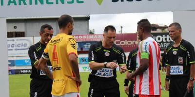 Kléber Gil, Cinésio Mendes, Charly Wendy, Fabiano Coelho Foto: Hercílio Luz Futebol Clube
