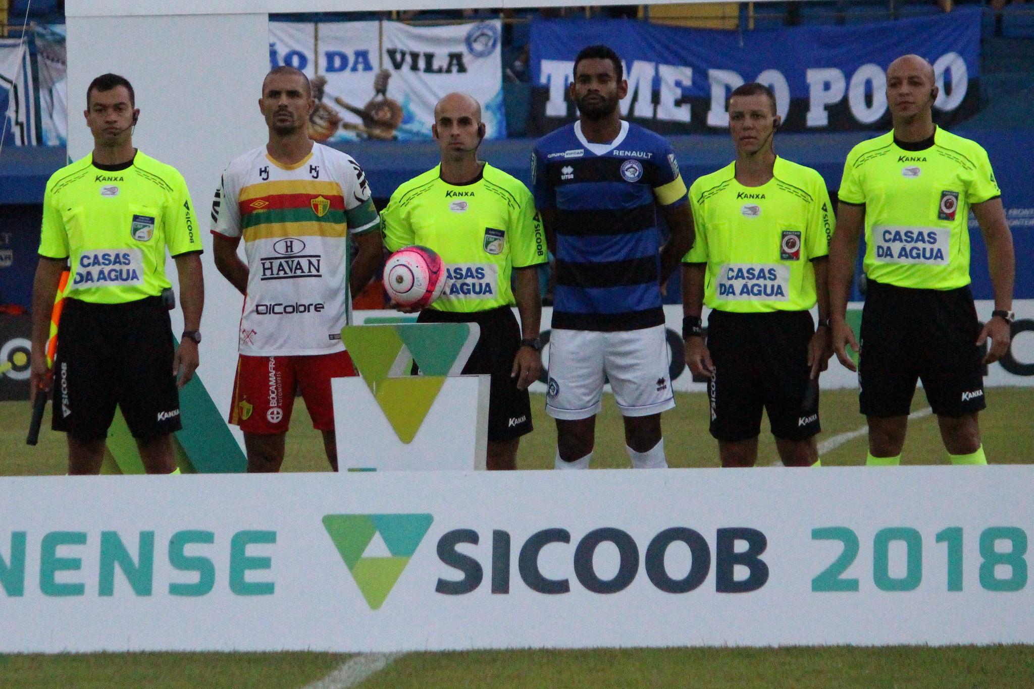 Henrique Neu, Fernando Miranda, Fabiano Coelho, Marcos Vinícius Foto: Comunicação CA Tubarão