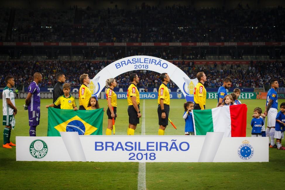 Henrique Neu, Edson da Silva, Neuza Back, Bráulio Machado, Kléber Gil. Evandro Bender Créditos: Vinnicius Silva/Cruzeiro