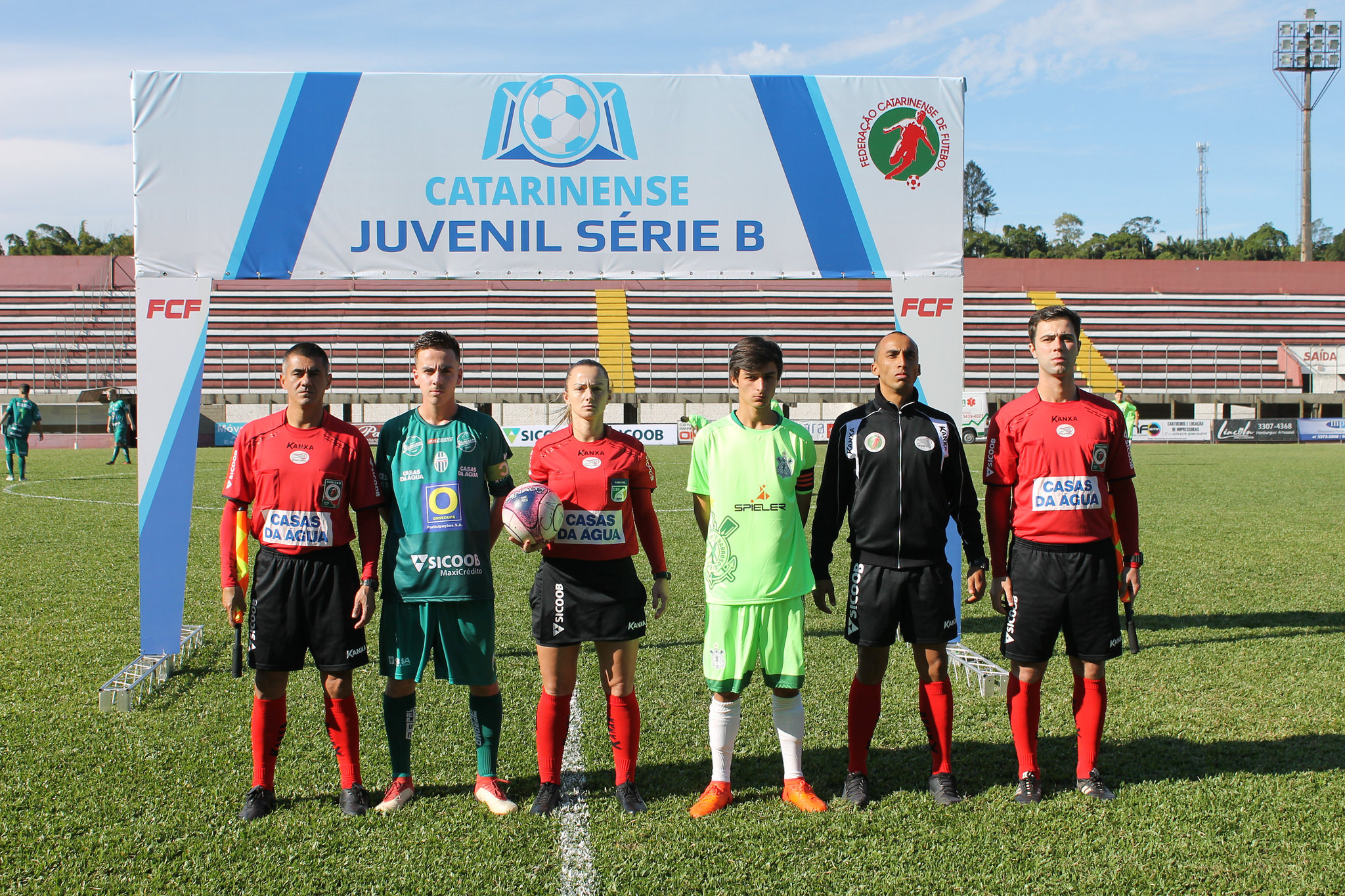 Antonio da Luz, Charly Wendy, Paulo Travasso, Diogo Berndt Foto: Federação Catarinense de Futebol FCF