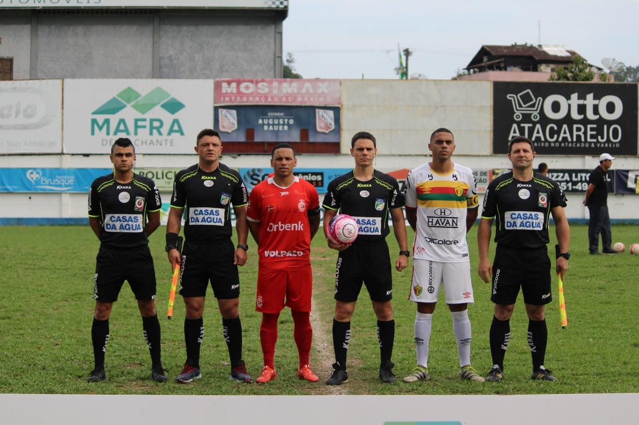 Tiago Soares, Eli Alves, Rodrigo D´Alonso, Alexandre Palamar CRÉDITO: Lucas Gabriel Cardoso/Brusque FC