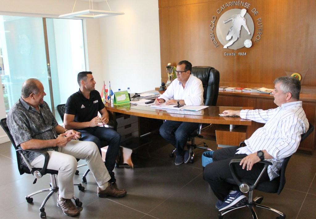 Cantucho João  Setubal, Bráulio da Silva Machado, Rubens Angelotti e Marco Antônio Martins. Foto: Marcelo de Negreiros / FCF