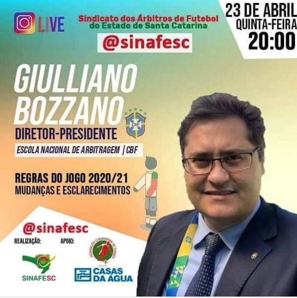 Live com Giulliano Bozzano no Instagram